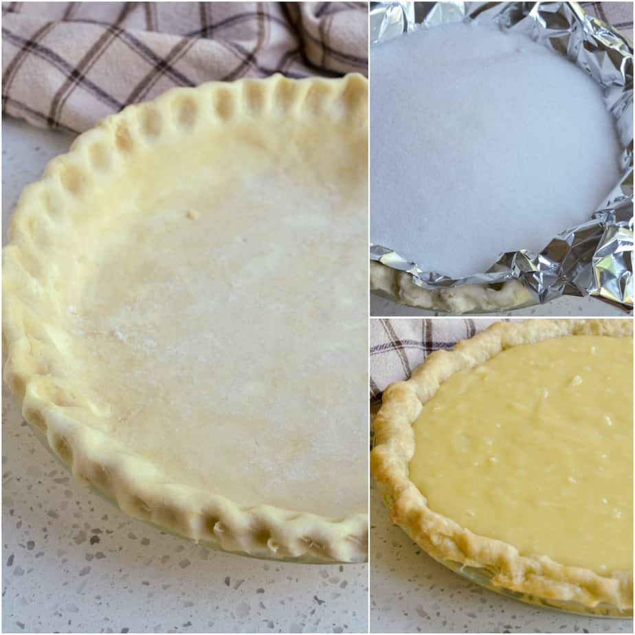There are several steps to making a coconut cream pie.