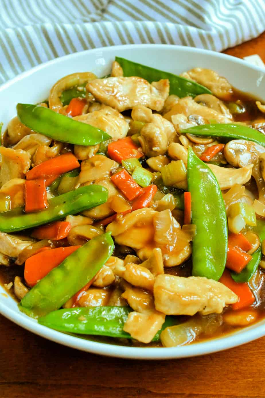 Chinese chicken chop suey with an easy five ingredient gravy.