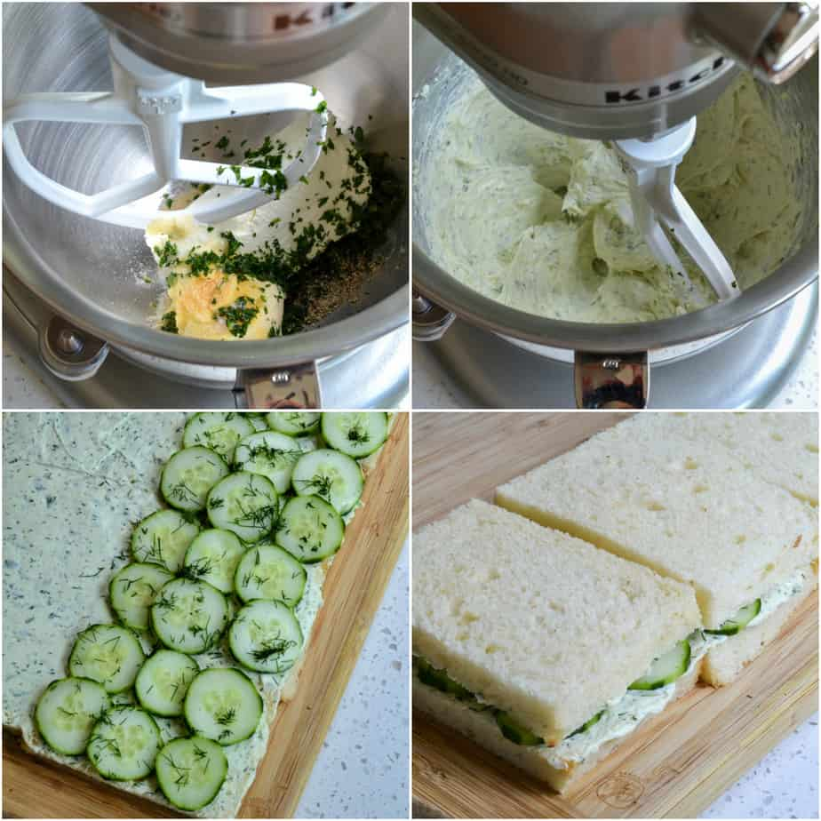 Using a stand or hand mixer beat the cream cheese, mayonnaise, dill, and parsley.