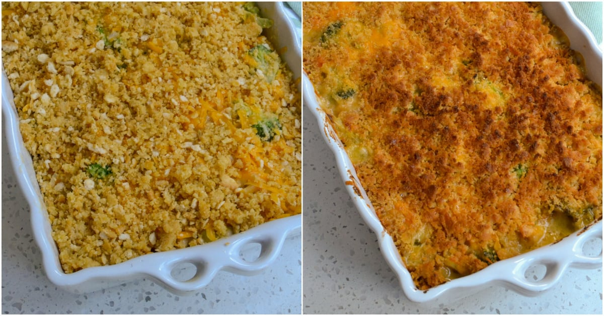 Bake the casserole for 20-25 minutes.