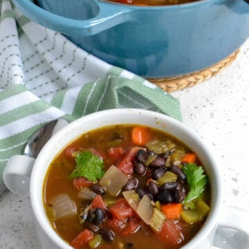 Black Bean and Vegetable oup