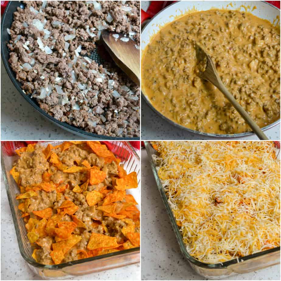 There are several layers to Doritos Casserole