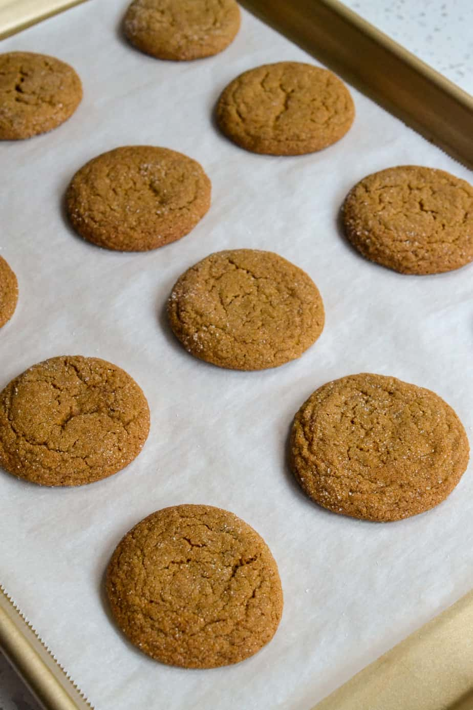 Bake the cookies in a preheated oven for about twelve minutes.
