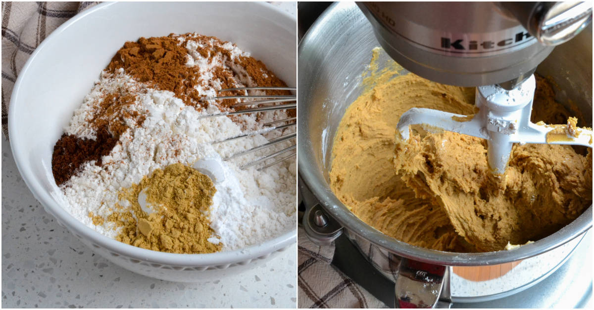 There are several steps to making molasses cookies.