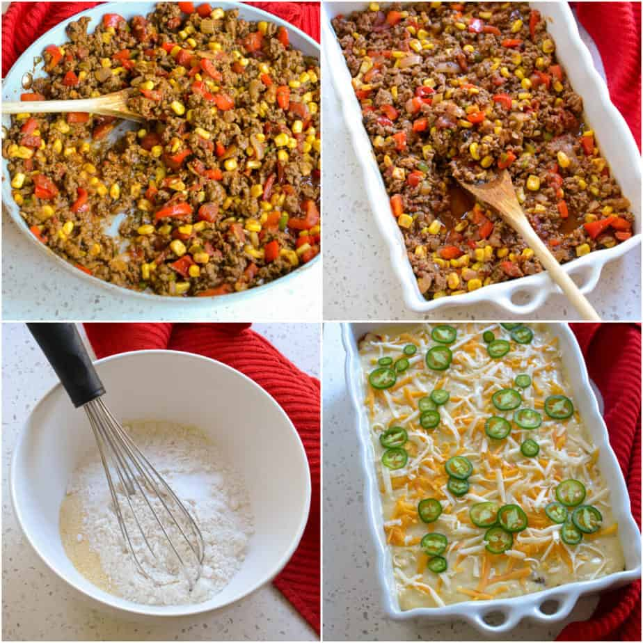 There are several steps tamale cornbread pie.